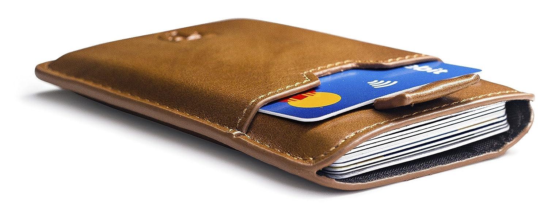 TRAVANDO ® Tarjetera con SEGURIDAD RFID PROTECCIÓN hasta tarjetas Crédito  Billetera