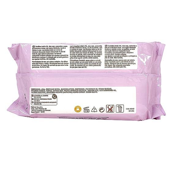BABYSMILE toallitas con crema hidratante para bebés pack 144 uds (2 paquetes 72uds): Amazon.es: Bebé