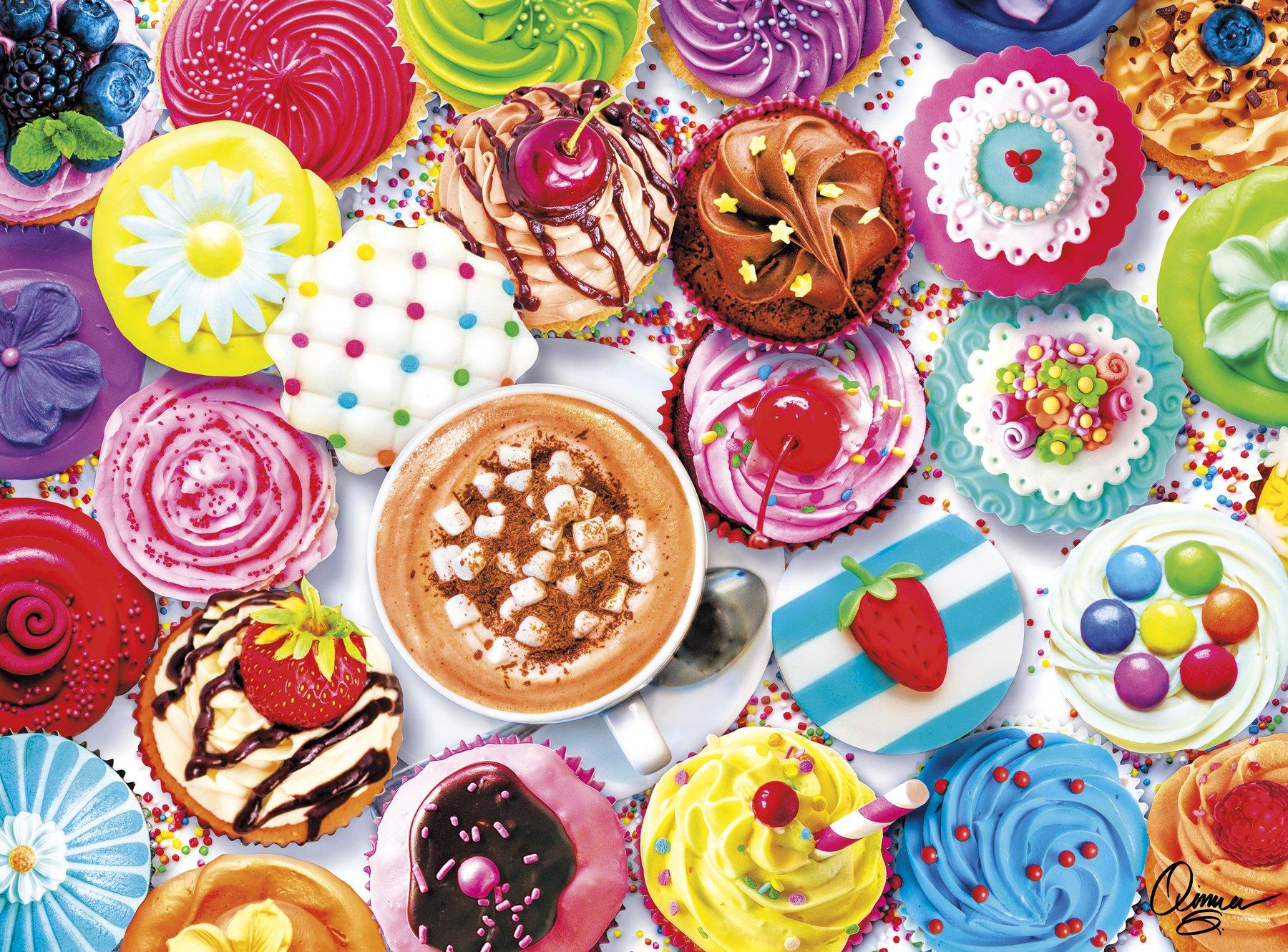 Buffalo Games - Vivid Collection - Aimee Stewart - Cupcakes & Cocoa - 1000 Piece Jigsaw Puzzle