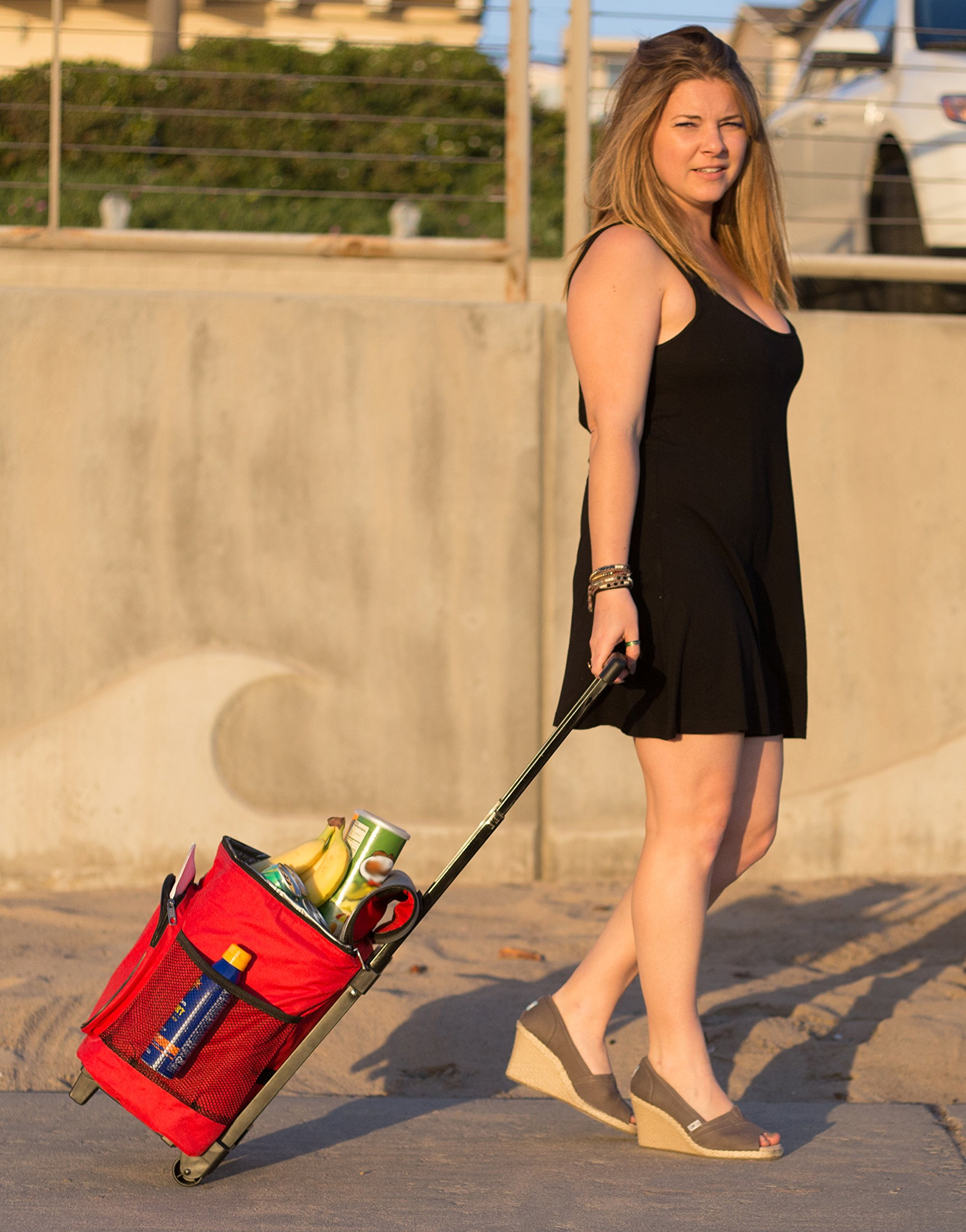 dbest products Ultra Compact Smart Cart,Red Insulated Cooler by dbest products (Image #2)