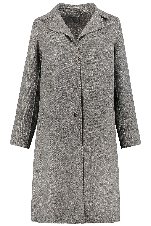 Ulla Popken Womens Plus Size Lightweight Classic Coat 720345
