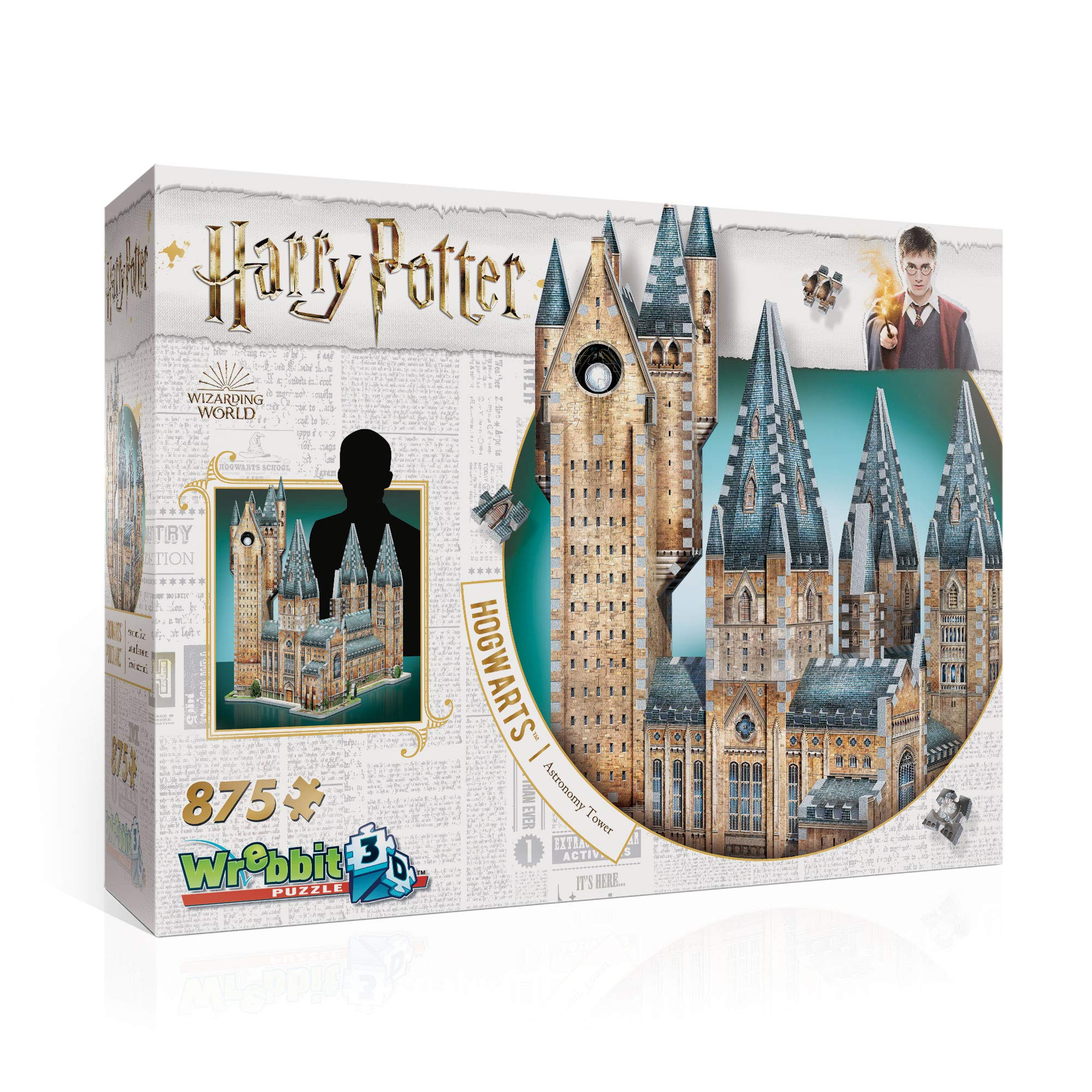 Hogwarts Astronomy Tower 3D Jigsaw Puzzle (875 pieces) by WREBBIT 3D