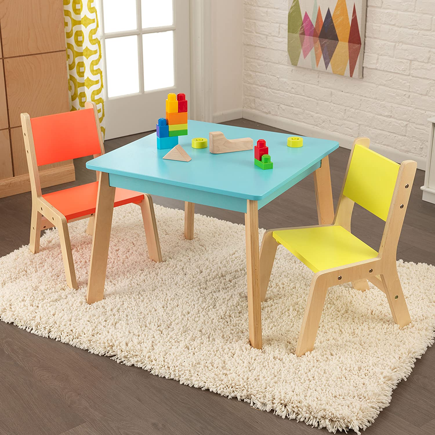 Amazon KidKraft Highlighter Modern Table & Chair Set Toys