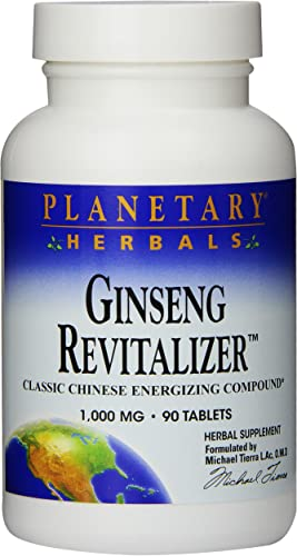 Planetary Herbals Ginseng Revitalizer Tablets, 90 Count