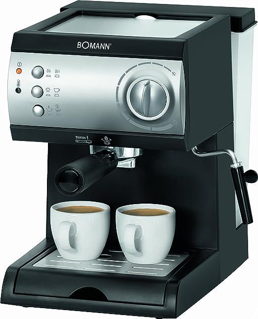 Bomann 601841 Cafetera Espresso de 15 Bares de presión, 1,5 litros ...