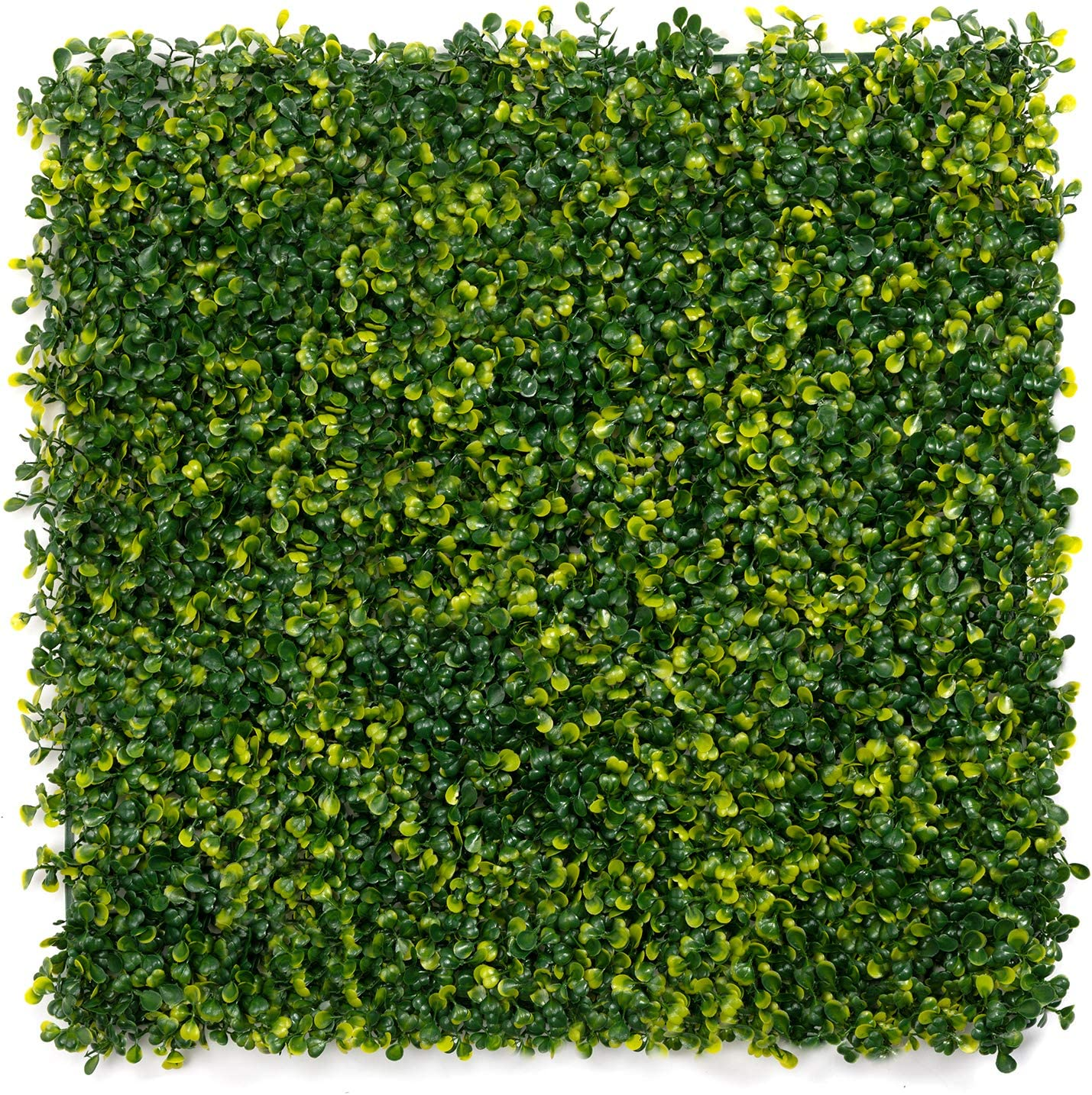 """DOEWORKS Artificial Boxwood Hedges Panels, 20"""" x 20"""" Faux Plant Ivy Fence Wall Cover, Outdoor Privacy Fence Screening Garden Decoration - 12 Pack"""