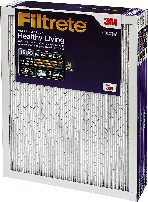 6-Pack Filtrete 2013DC-6 Ultra Allergen Reduction Filters 1500 MPR 24 x 30 x 1