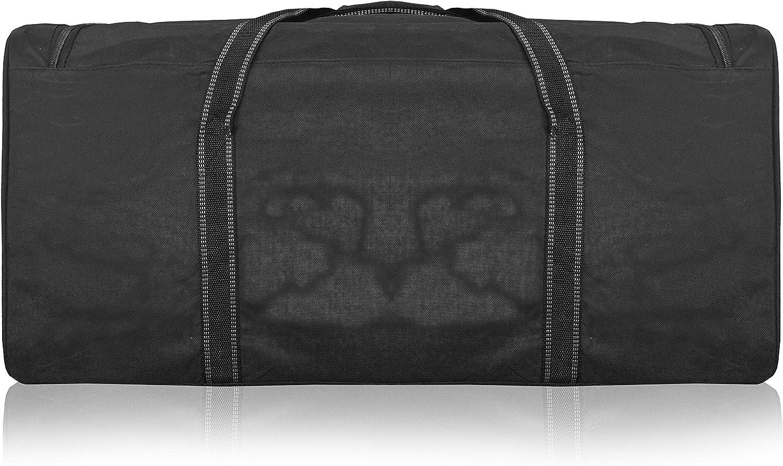 Noir de 110 litres Sac 2-XL Duffle Bag Roamlite Sac de Voyage XXL Tr/ès Grand en Taille Bagage Pliable /à Plat pour Le Stockage 86cm x 36cm x 36 R34 des Sports ou Le Lavage 1 /énorme Sac