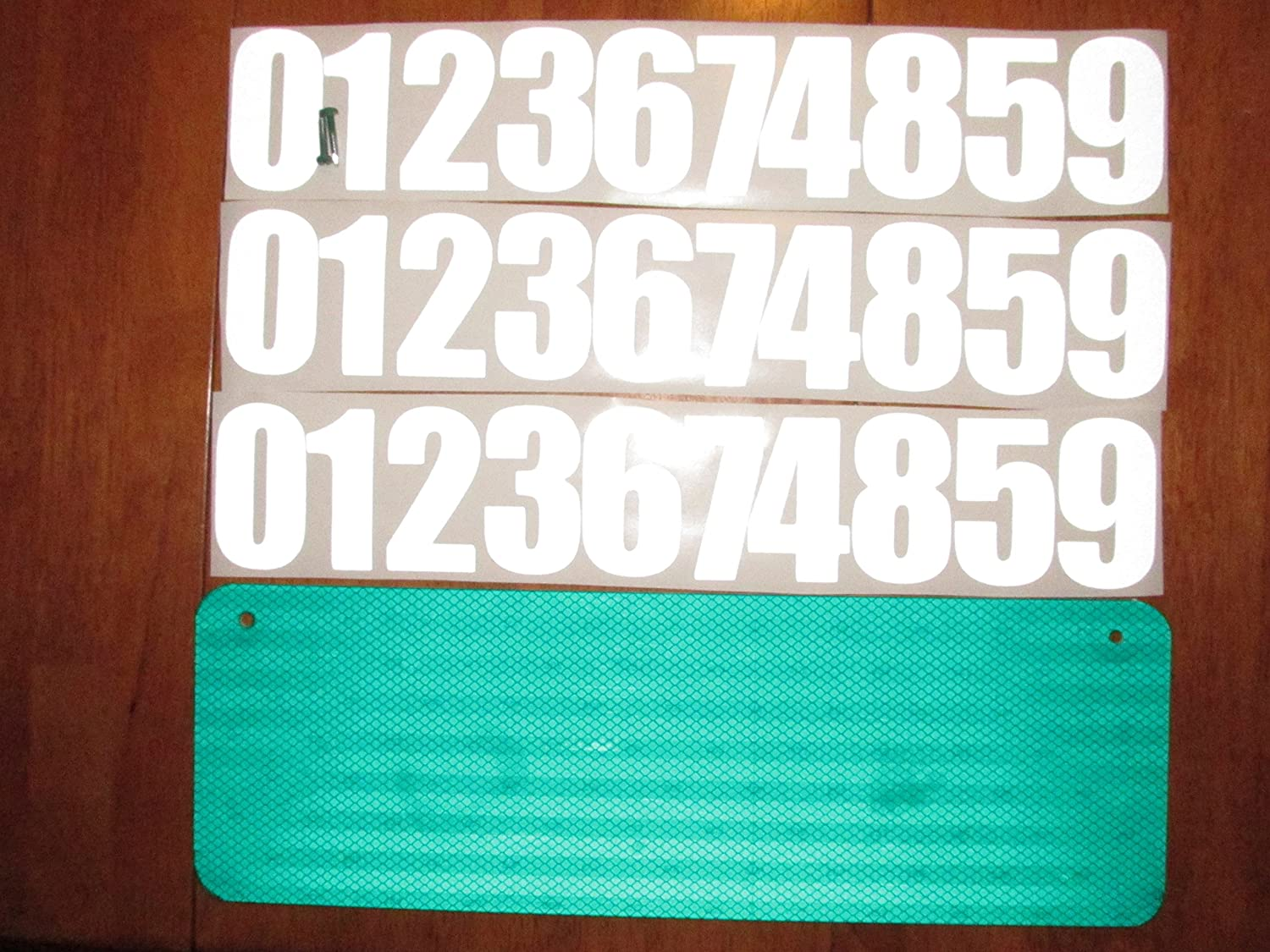 DIY Premium 911 Green 3M Prismatic Reflective Address Sign Kit. W/ 3 Inch Numbers and Reflective Plate for Home or Business By Mg2 Signs MG2Signs
