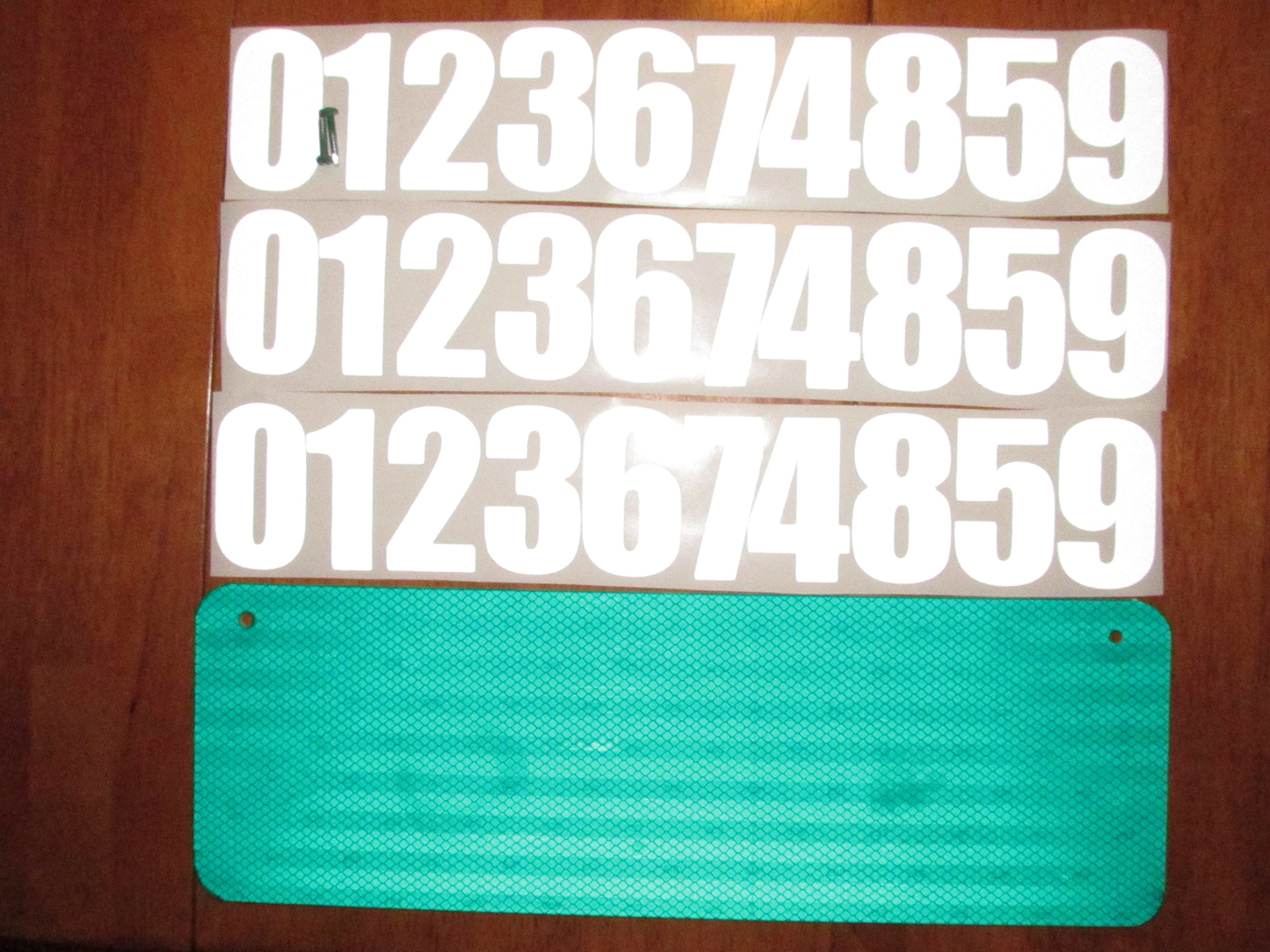 DIY Premium 911 Green 3M Prismatic Reflective Address Sign Kit. W/ 3 Inch Numbers and Reflective Plate for Home or Business By Mg2 Signs