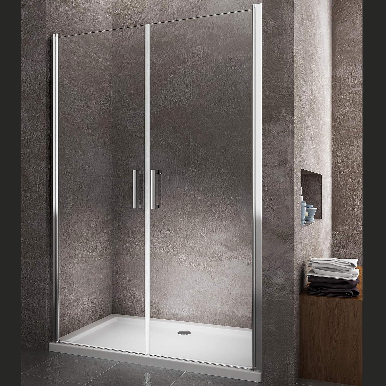 Cabina de ducha doble batiente de línea vidrio templado 8 mm Easy ...