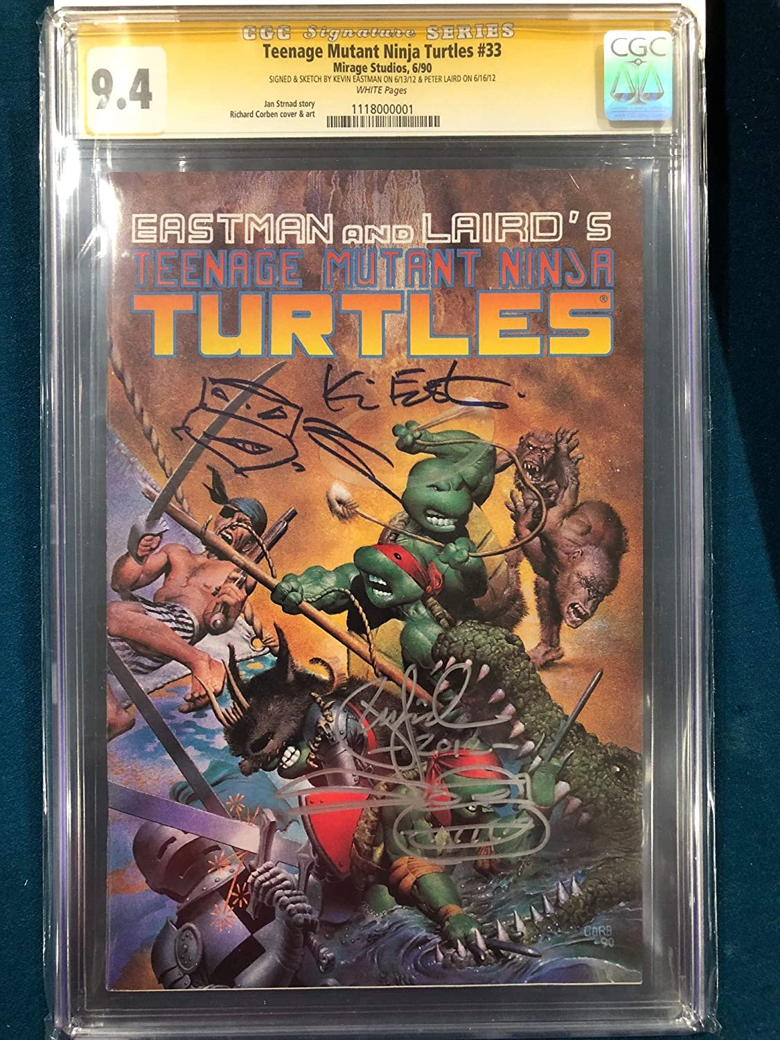 KEVIN EASTMAN PETER LAIRD SIGNED ORIGINAL TMNT Sketch Art ...