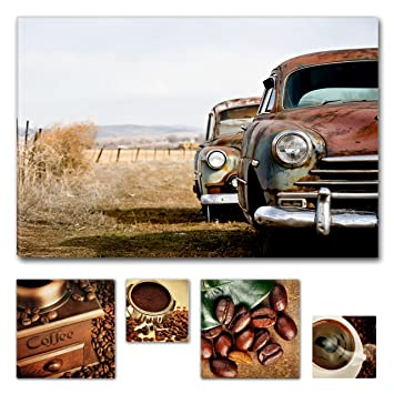b0e4ef8637 Eco Light Wall Art Bundle sur Toile Retired sur Toile de Voiture en Grand  Canion USA