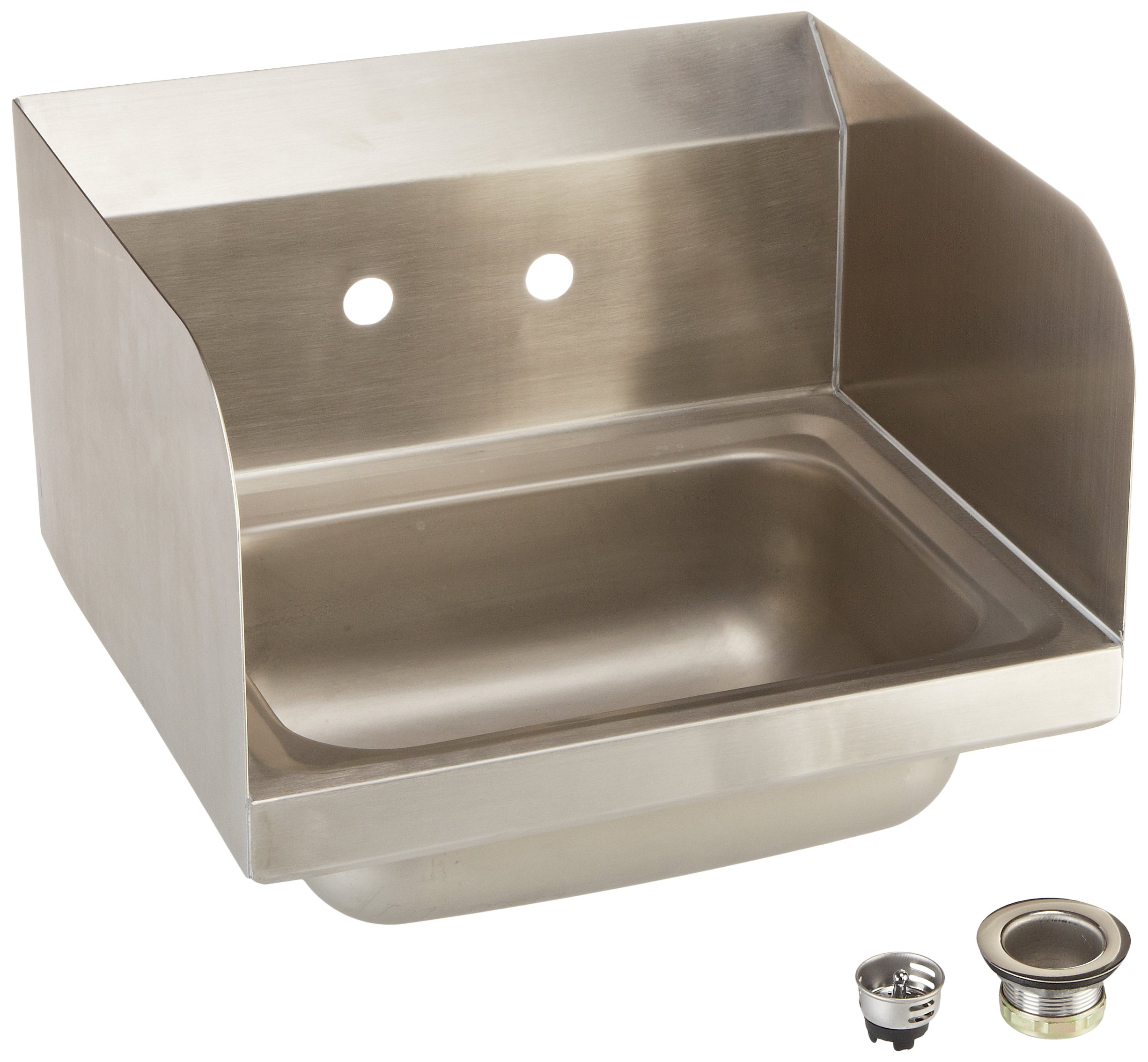 John Boos PBHS-W-1410-SSLR Stainless Steel 304 Pro-Bowl Hand Sink, Faucel Location: Splash Mount, Left Hand and Right Hand Side Splash, 14'' Length x 10'' Width x 5'' Depth, 4'' On-Center, 1-7/8'' Drain