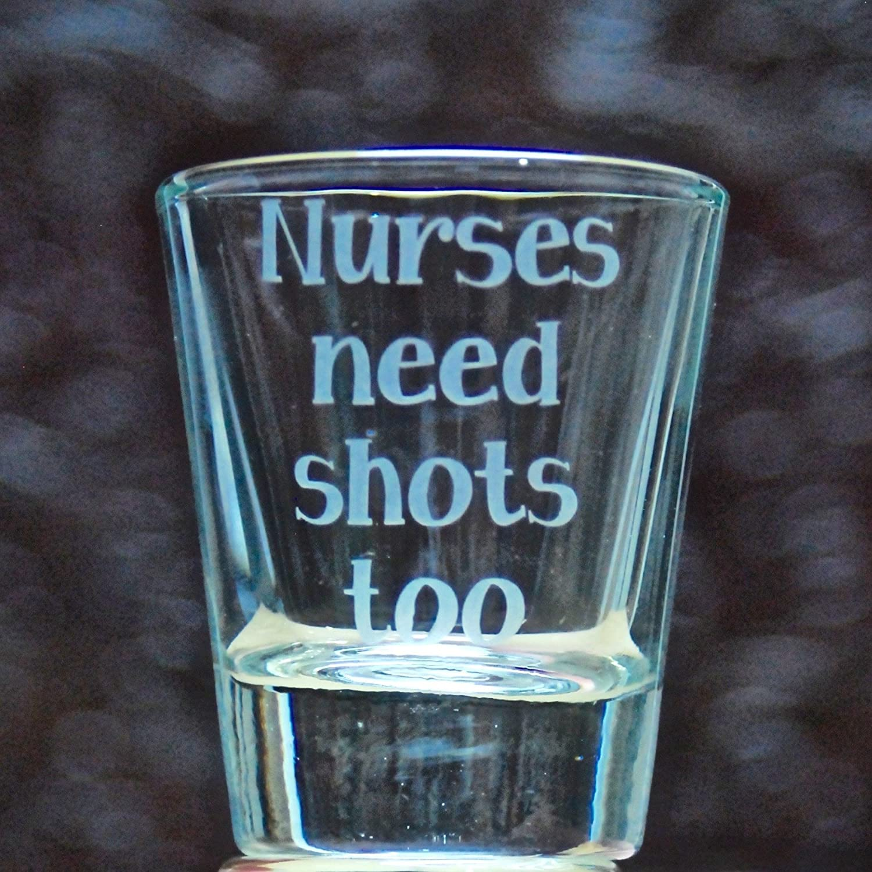 1.5 oz Customizable Shot Glass - Glass Etched Shot Glass - Says