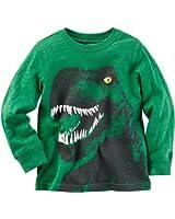 Carter's Boy Long Sleeve Dinosaur Graphic Tee; Green (6M)
