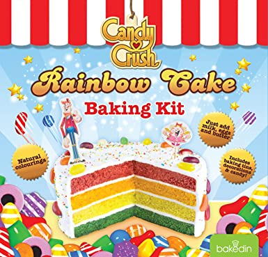Bakedin Candy Crush Rainbow Cake Baking Kit 1050 G