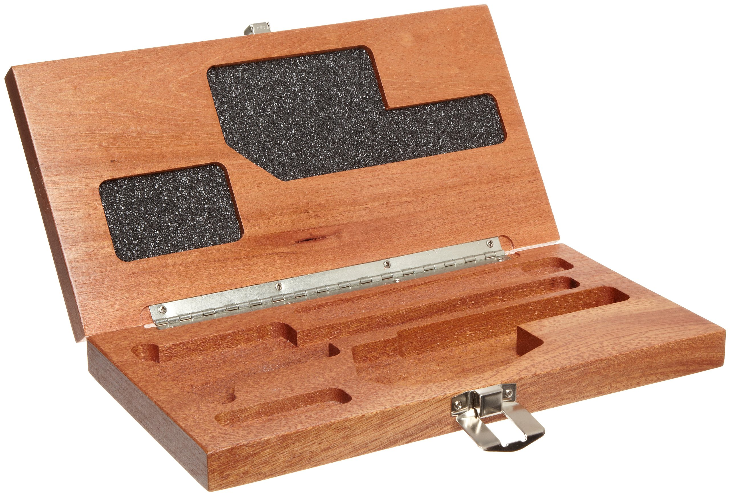 Mitutoyo 64PPP932 Mahogany Case for Digimatic Caliper and Micrometer Sets by Mitutoyo (Image #1)
