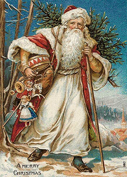 Victorian Father Christmas Santa Claus  # 217 Counted Cross Stitch Chart Pattern