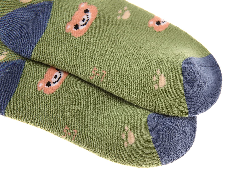 Eocom 5 Pairs Childrens Winter Warm Cotton Socks Novelty Kids Boys Girls Socks