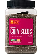BetterBody Foods Organic Chia Seeds with Omega-3, Non-GMO (2 lbs.)