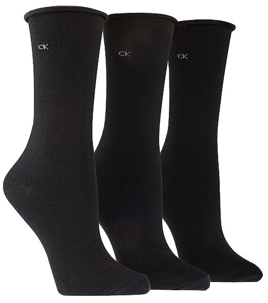 Amazon.com: Calvin Klein Calcetines de algodón para mujer, 3 ...