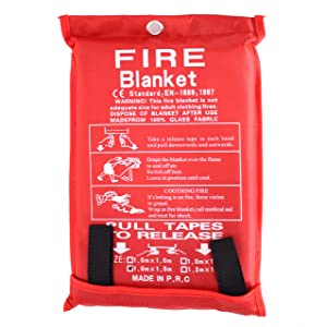Parcil Distribution Large Fire Extinguisher Blanket. Chemical Free, No Mess, Easy to Store, Fire Extinguisher.