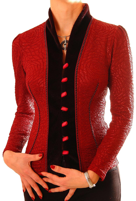 Poshtops - Chaqueta de Traje - para Mujer Rojo Granate 38 ...