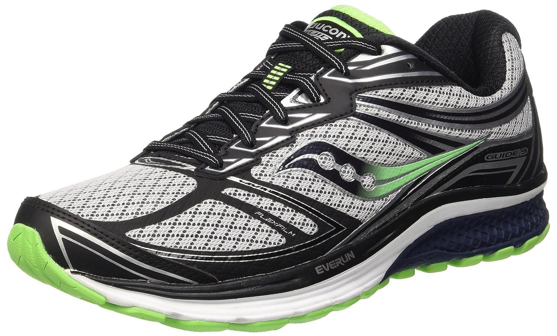 Saucony Guide 9 De los hombres GreyNavySlime Running Shoes Online Sale