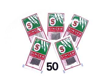 50 Singer coser agujas Surtido 2020 grosor 70/80/90/100/110: Amazon.es: Hogar
