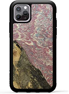 product image for Carved - Wood+Resin Case for iPhone 11 Pro 5.8 inch - One-of-A-Kind, Protective Traveler Bumper Cover (ID: 315684, Pink)