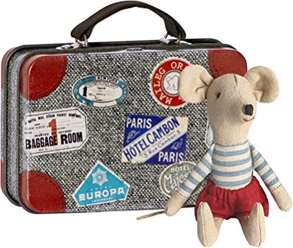 Maileg Big Brother Mouse with Stripe Top /& Red Shorts in a Matchbox by Maileg