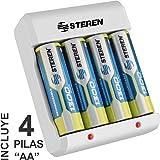 Steren Crg-015 Cargador Económico de Baterías AA/AAA