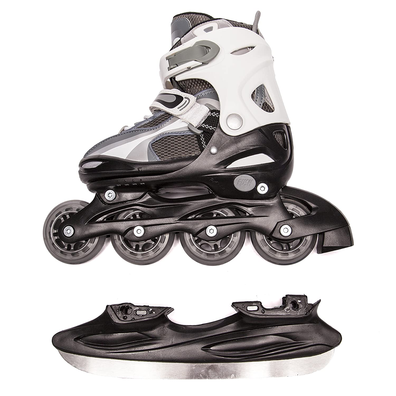 Zebra roller skates - Amazon Com Ultega Kids 2 In 1 Ice And Inline Skates Sports Outdoors