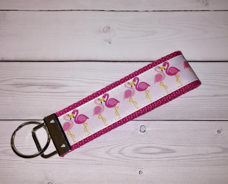 Handmade Jeep on Purple Keychain Key Fob Wristlet