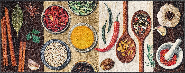 Wash+dry Hot Spices Fußmatte, Acryl, bunt, 75x190x0.7 cm