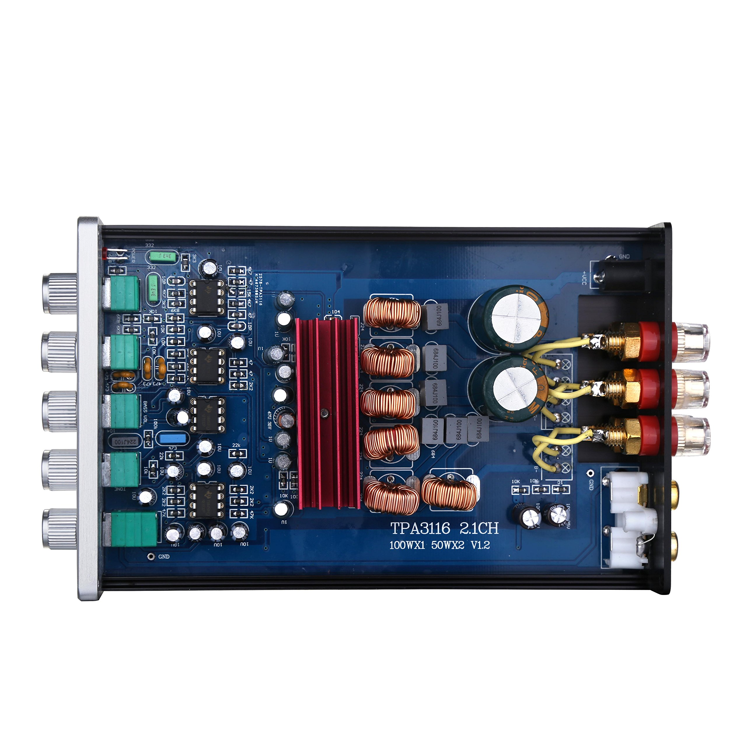 Nobsound HiFi TPA3116D2 2.1 Channel Digital Audio Power Amplifier Stereo Amp 2×50W+100W Subwoofer Treble Bass Independent Adjustment (with power supply) by Nobsound (Image #9)