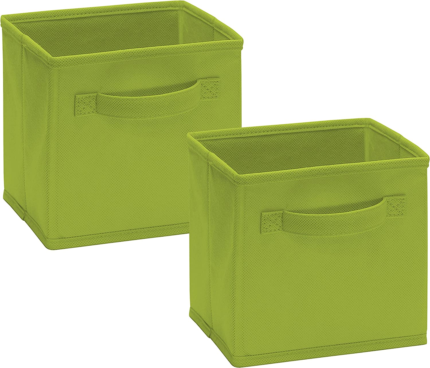 Closetmaid 1540 Cubeicals Mini Fabric Drawers, Spring Green, 2 Pack