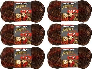 Bernat 161129-29013 Softee Chunky Ombre Yarn - Terra Cotta