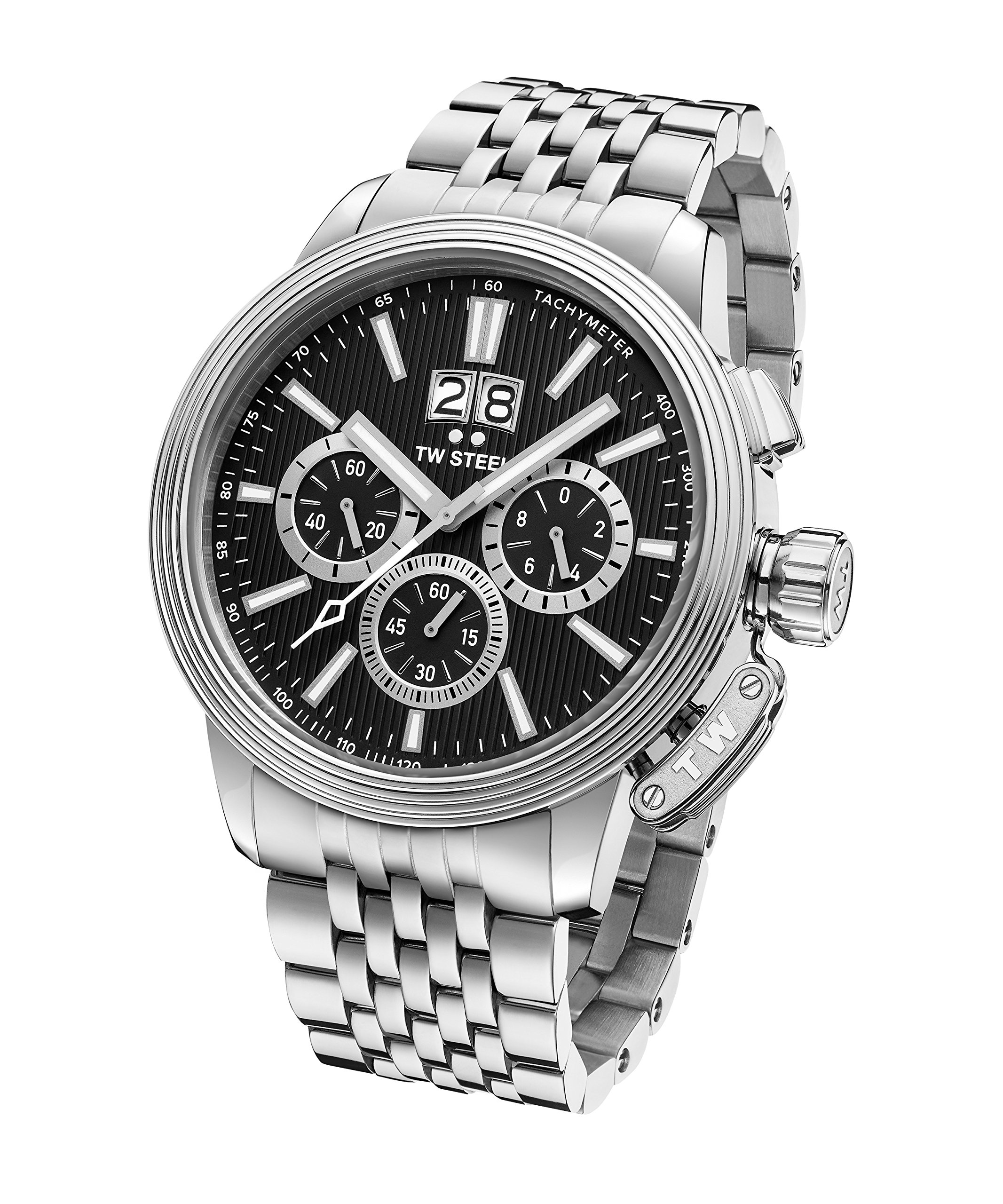 TW Steel CEO Adesso Japanese-Quartz Watch with Stainless-Steel Strap, Silver, 0.9 (Model: CE7020