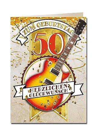 Bentino Xxl Grusskarte Mit Sound A4 50er Geburtstag Gitarre