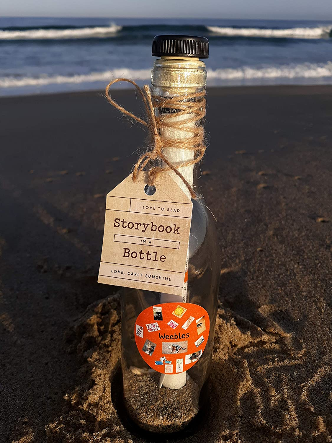 Storybook in a Bottle Shoelaces at Night