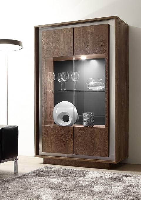 106 x 50 x 171 cm Cognac L/&C Sky Vetrina Legno