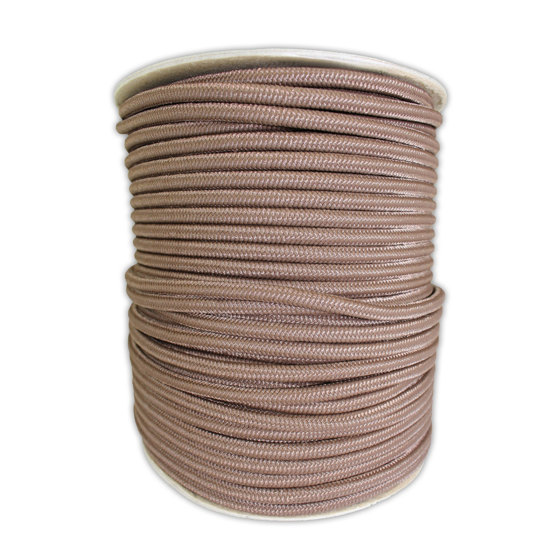 SGT KNOTS Braided Polyester Rope (1/4 in - 6mm) Braid on Braid Stiff Halter Cord - DIY Horse Halter - Low Stretch Cord for Arborist/Tree Rigging, Hiking, Crafting (50 ft - Coil, Brown)
