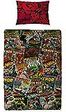 Character World Disney Marvel Comics - Juego de cama de diseño reversible.