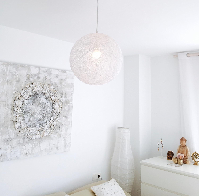 Lámpara de diseño nórdico, decorativa de hilo de algodón, artesanal, hecha a mano SPHERE 25
