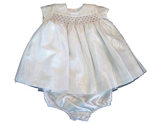 d9ea84b02 Image Unavailable. Image not available for. Color: Edgehill Collection  Shimmery Ivory Smocked Baby Dress ...