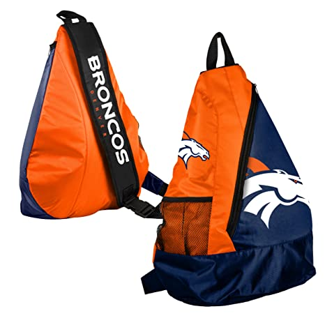 26737ef24254 Image Unavailable. Image not available for. Color  Forever Collectibles NFL  Denver Broncos Core Sling Bag