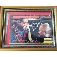 Star Trek Deep Space Nine Avery Brook AKA DS9 Captain Ben Sisko Hand Autographed Trading Card In Frame.