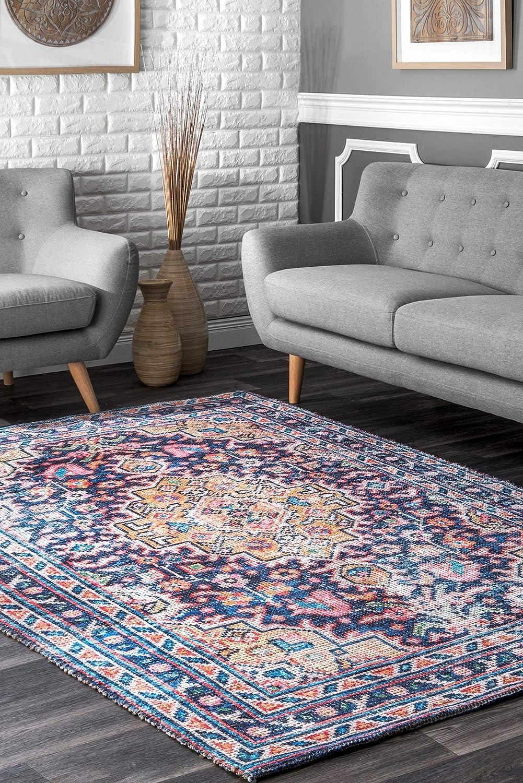 Nuloom Loretta Flatweave Jute Rug 5 X 8 Multi Furniture Decor Amazon Com